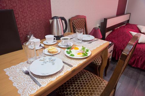 завтраки в гостинице Рязани БРИЗ